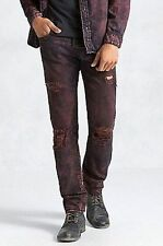 NWT TRUE RELIGION JEANS $299 MENS GENO SLIM FIT FLAP IN RED ROULETTE SZ 29