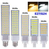 E27 G24 AMPOULE DE SPOT LED LUMIÈRE DE MAÏS 5W 7W 9W 11W 13W PRISE HORIZONTALE