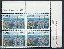 Aland/Åland 1984, Ships MNH in marginblock of four 1