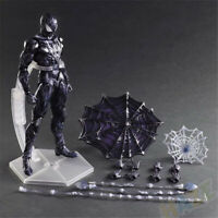 Play Arts Kai Spider-Man Blue Cloth Ver. PVC Figure Model 27cm Statue Toy Gift