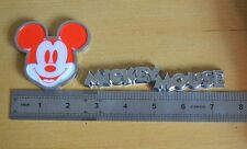 Red Disney Mickey Mouse 3D Metal Auto Car Logo Emblem Badge Bonnet Stickers