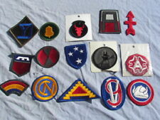 LOT DE PATCHS US (15) PERIODE WWII ,COREE, VIETNAM  INSIGNE MEYER US ORIGINAUX