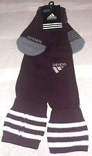 Adidas OTC Soccer Socks 1 Pair Men 9-13 Women 10-12 Maroon w/ White Logo&Stripes