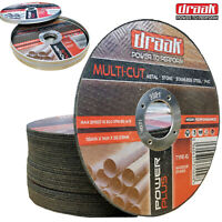 "5 x Angle Grinder Cutting Discs (4.5"") 115mm x 1mm Thin METAL STONE STEEL PVC"