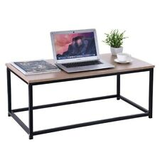 Wood Coffee Table Cocktail Rectangle Metal Frame TV Stand  Home Furniture
