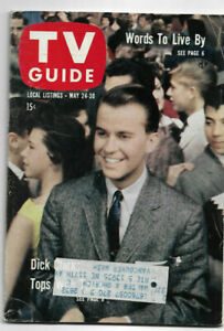 May 24-30 1958 TV Guide, Dick Clark cover NICE!
