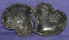 Vintage metal ornate floral leafs shaped bowl