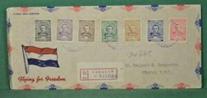VENEZUELA STAMP COVER FDC 1944 TO CURACAO  (L233)