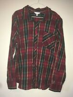 Time And Tru Women's Long Sleeve Soft Flannel Button Front Shirt Size XXL (20)