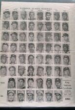 NATIONAL LEAGUE BASEBALL APRIL 1965 HEAD SHOTS VERY RARE KING FEATURES SYNDICATE
