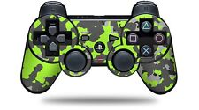 Skin for PS3 Controller WraptorCamo Old School Camouflage Camo Lime Green