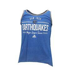 San Jose Earthquakes MLS Adidas Kids Youth Girls Size Sheer Tank Top Shirt New