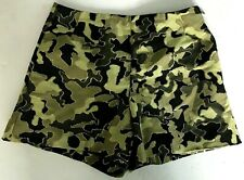 Moncler Women's 42/US S SHORTS Camouflage Gold threading