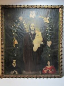 Late 19th Century oil on canvas religious painting # 11325