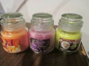 Three Mainstay Mini Candles All New Different Scents