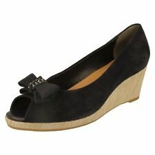 Suede Slip On Casual Heels for Women
