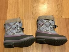 SOREL Yoot Pac Youth Kid's Size 12 Winter Snow Boots Girls Checkered Leather Top