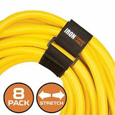 Extension Cord Wrap Organizer, 8 Piece Multi-Pack of Elastic Storage Straps - Tw