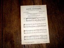 4 offertoires à 2 voix mixtes Marc de Ranse + Notre Père air basque chant orgue