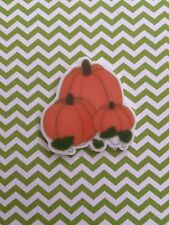 5pc  Pumpkin Patch, Planar Flatback, Cabochon, Bow Center, Fall, Thanksgiving,