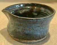 "Vintage Studio Stoneware Pottery Pitcher 2"" Tall   Signed               PH0497"