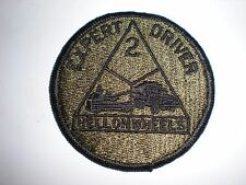 US ARMY 2ND ARMORED DIVISION EXPERT DRIVER PATCH - BDU SUBDUED