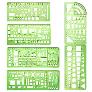 Portable Drafting Tool House Plan Architectural Template Furniture Drawing Ruler