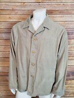 Banana Republic XL Corduroy Barn Coat Light Tan Work Chore Jacket Lined