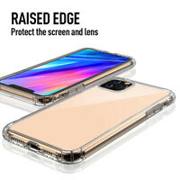 For iPhone 11 Pro Max Clear Case Shockproof Bumper Silicone TPU Protective Cover