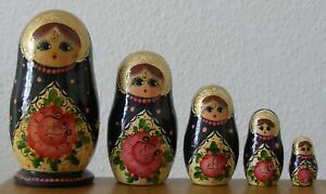 Matroschka, Matrjoschka! Babuschka. Matrioschka. 5 Holzpuppen! DEKORATIV & SCHÖN