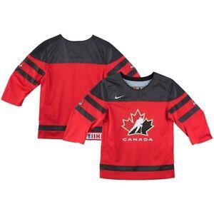 2019 Team Canada Hockey IIHF WJC Red Replica Preschool Child Hockey Jersey
