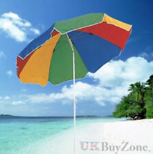 Garden Beach Patio Tilting Tilt Umbrella Parasol Sun Shade Protection UPF40