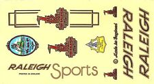 NEW OLD STOCK RALEIGH VINTAGE BIKE BICYCLE STICKER DECAL 1 SHEET
