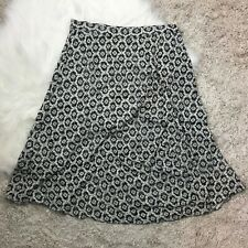 Sag Harbor Womens Size 14 Gray Printed A Line Skirt