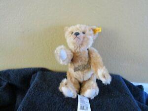 Steiff Mohair 100th  Anniversary Teddy Bear 1902-2002 Growler  New with Tags