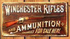 Winchester Rifles and Ammunition  For Sale Here Tin Sign Gun Trap Shoot Shot E97