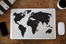 "Mapa Del Mundo Pegatina Vinilo para Portátil 13"" 38.1cm"