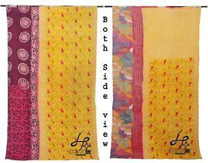 Vintage Cotton Kantha Quilt Indian Handmade Gudari Purple Throw Single Coverlet