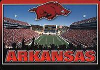 University of Arkansas Razorbacks Football, Fayetteville AR --- Stadium Postcard