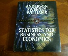 STATISTICS FOR BUSINESS AND ECONOMICS 7th EDITION 1999 HARDCOVER BY ANDERSON,SWE