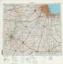 Russian Soviet Military Topographic Maps  - state ILLINOIS  (USA), 1:500 000