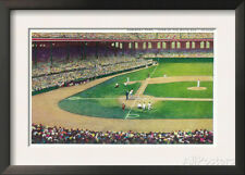 Home Base Bleachers View of Comiskey Park - Chicago, IL Framed Art Print