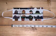 Face Mask Marvel's Avengers Print, Fabric, Washable, Iron Man, Hulk, etc.