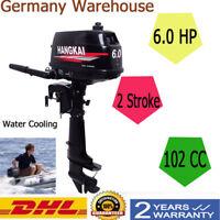 6HP 2 Stroke Outboard Motor Boat Engine w/ Water Cooling Heavy Duty Tiller Shaft