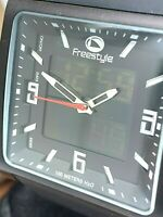 Freestyle Men's Watch FS54001 Blackout Quartz Analog Digital Black Rubber Strap