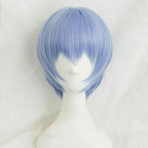 NEON GENESIS EVANGELION EVA Ayanami Rei Wigs Light Blue Cosplay Wig