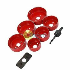 8pc Down Lights Hole Cutter Saw Holesaw Kit Set 51mm 60mm 64mm 70mm 76mm & 89mm