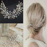 Fashion Women Tiara Bridal Hair Comb Wedding Headwear Jewelry Hair