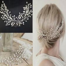 Fashion Women Tiara Bridal Hair Comb Wedding Headwear Jewelry Hair