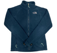The North Face Women's Blue Full Zip Fleece Sweater Size Small